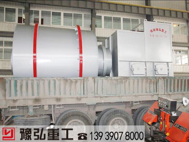 时产25吨的三筒砂子烘干机顺利发往河北