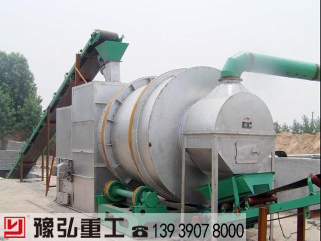 湖北时产30吨的沙子烘干机生产线投入使用