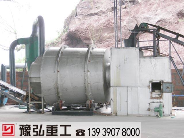 砂子干燥机应用于人工制砂生产线中