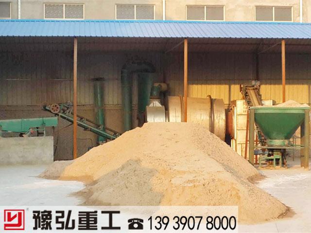 陕西10t/h的沙子干燥机使用现场